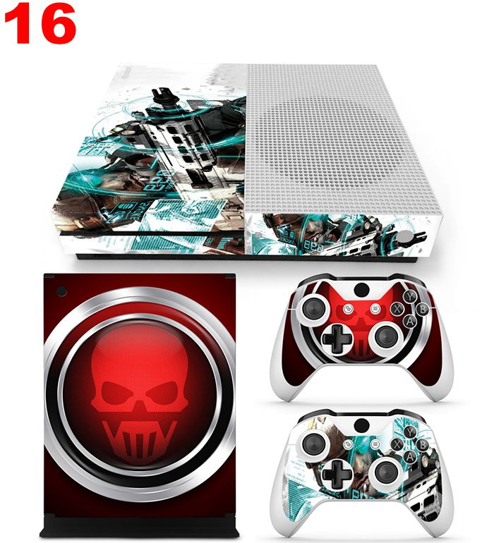 Cool skin decal cover for Microsoft Xbox one slim Games console + 2pcs controller skins for xbox  one S