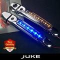 ABS Автомобилей ПРИВЕЛО ручку крышки для juke из стороны фронта 2 двери ручка с LED поворота дневные ходовые огни 2012-2015