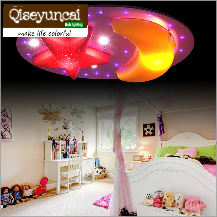 Children's bedroom 35W led ceiling lamp creative cartoon boy girl children room lighting zunge led ceiling lights children s room cartoon creative five pointed star cute boy and girl bedroom p592 study room iron lamp