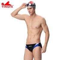 YINGFA FINA Mens Swimwear trunks swimming Training costumes professional Swimsuit Racing Competition Bathing Suit Sport bottom