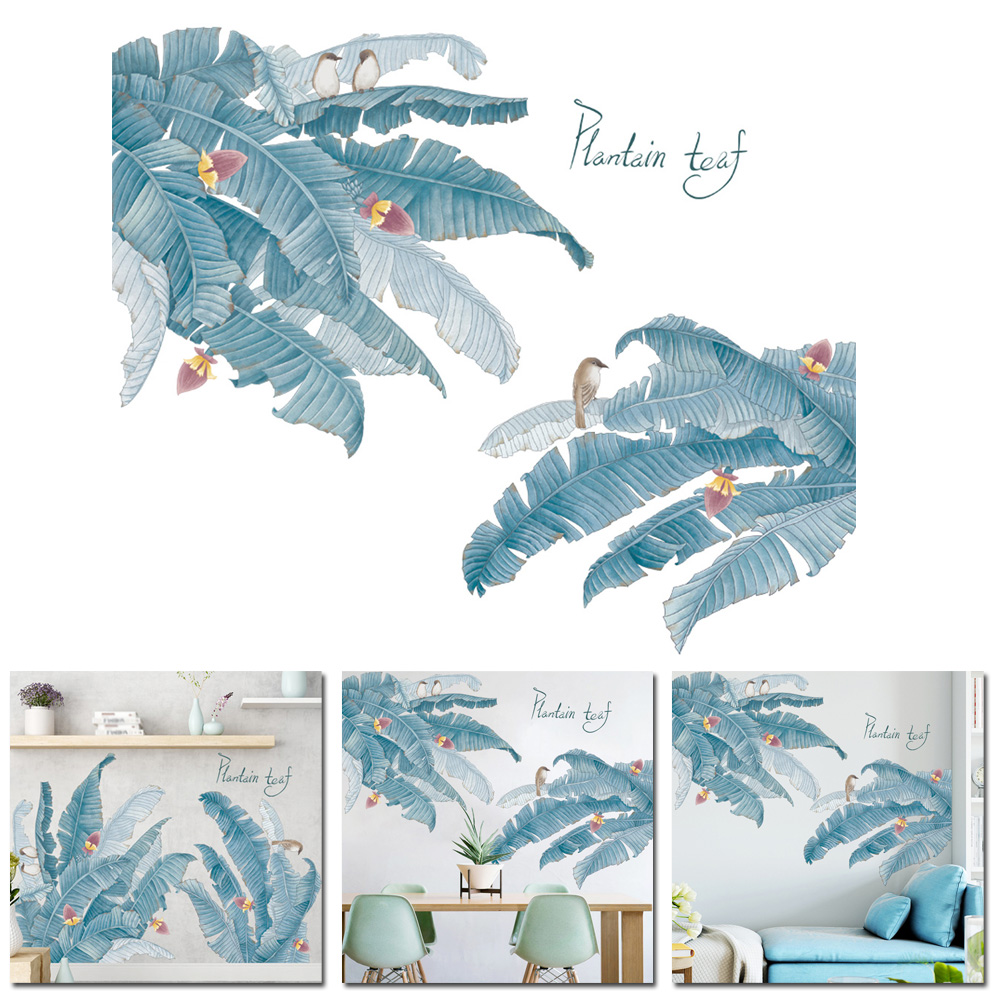 New 60 90cm Waterproof Creative Wall Sticker Leaves Art Wall Home Wardrobe Decoration Non toxic in Wall Stickers from Home Garden