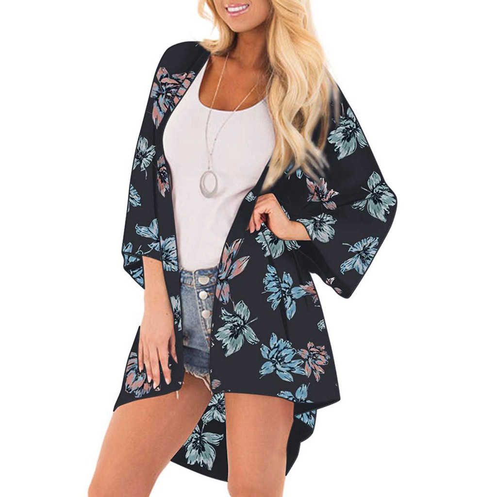 Women's Clothing Amicable Muqgew 2019 Women Summer Fashion Chiffon Leaf Print Tops Suit Beach Swimsuit Smock Casual Womens Tops And Blouses Camisas