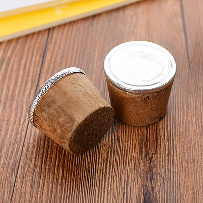 2pcs/lot Household Wooden Thermos Bottle Cork Plug Lid Insulation Pot Cap Stopper Kettle Parts Bar Wine Reusable Sealing Corks