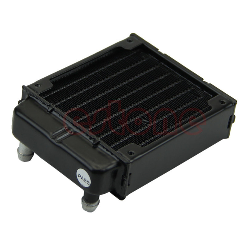 New 80MM Aluminum Computer Radiator Water Cooling Cooler 18 Tubes Heat Exchanger CPU Heat Sink For Laptop Desktop