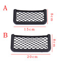 Universal Black Car Storage Pocket Net for Coach/Bus,Stick-on Cars Organizer Mesh Holder for Phones/Cigar/Receipts,15*8cm/20*8cm