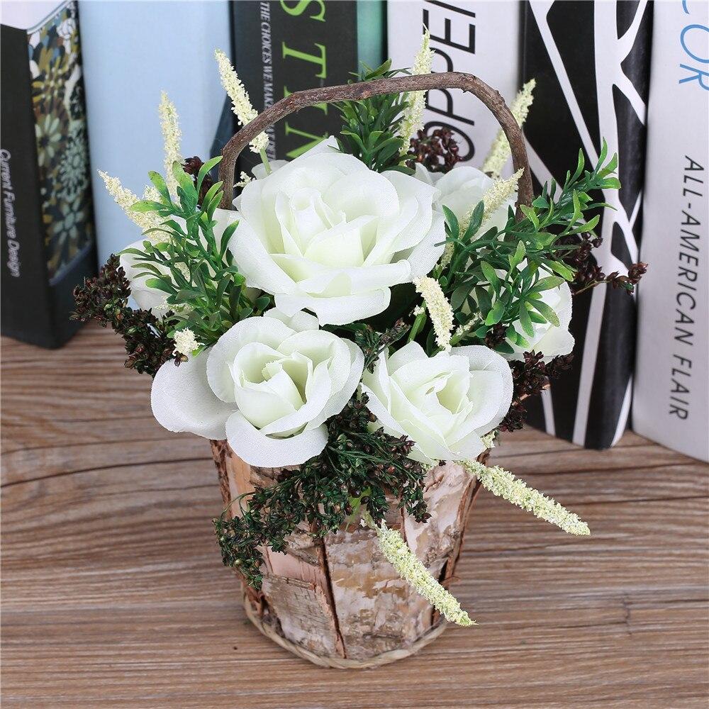 Basket Flower Decoration Online Get Cheap Flower Arrangements Baskets Aliexpresscom