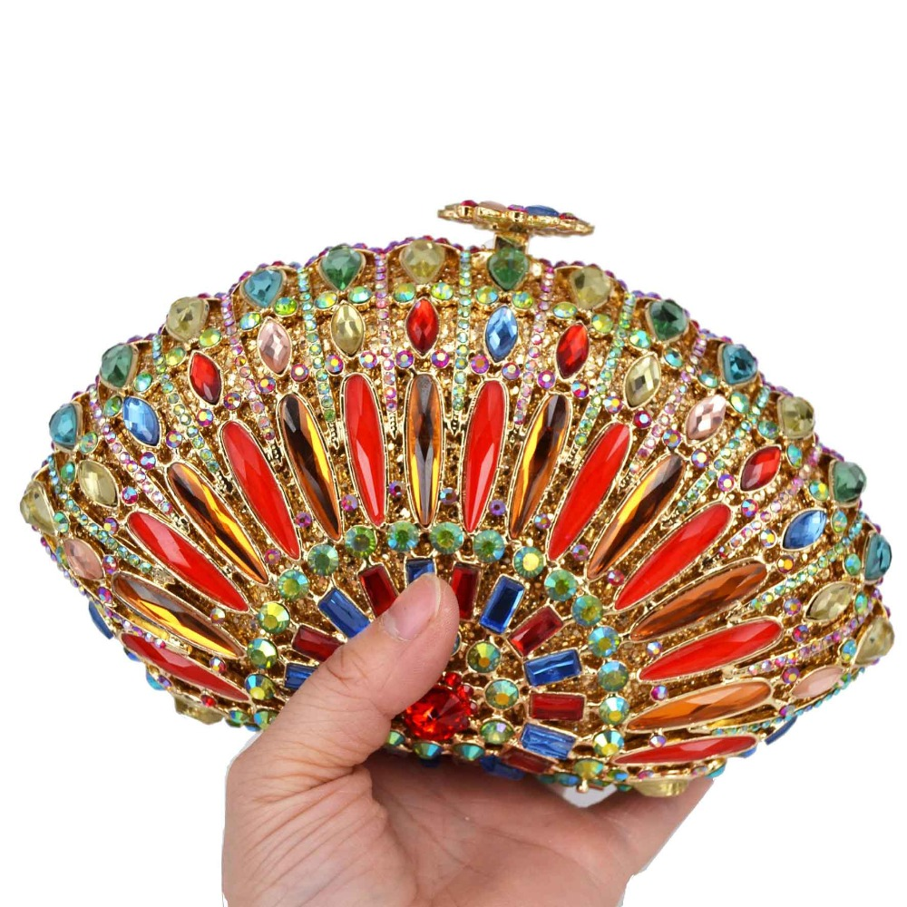 Colorful Reeded glass Fashion Crystal Red Crystal Bags Prom Purse Wedding Bridal Bags A33Colorful Reeded glass Fashion Crystal Red Crystal Bags Prom Purse Wedding Bridal Bags A33