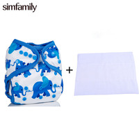 Free Shipping 1pc Diaper Cover With 2pcs Prefold Diaper 29 Pattern Available Double Gussets Color Tab