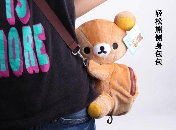 Lazy gấu Rilak gấu Plush Mềm Túi Xách Trẻ Vai Đồng Xu Học Handmade Búp Bê Đồ Chơi Quà Tặng
