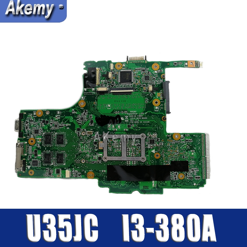 S-2 U35JC With I3-380M CPU Mainboard REV2.0 For ASUS U35J U35JC Laptop Motherboard 60-N0SMB1600-A05 100% Tested Well