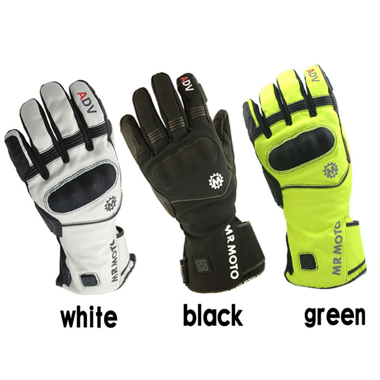 electrothermal racing motocross parts waterproof leather motorbike <font><b>gloves</b></font> heated moto guantes luvas heating motorcycle <font><b>glove</b></font>