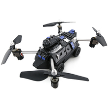 Wifi FPV APP Control Foldable RC Tank Drone Hybrid Aircraft Robot Toys for Child with HD Camera Car Air Ground Mode Quadcopters