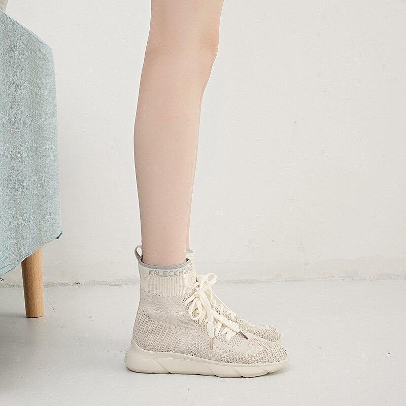 2018 Instagram 39 s hot shoe woman summer new street style sneakers women Korean version of harajuku knitwear socks shoes women 5 in Women 39 s Flats from Shoes