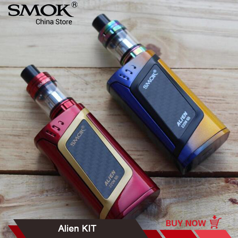 Original SMOK Alien 220w Mod Kit 3ML TFV8 Baby Tank V8 Baby Q2 Coil Electronic Cigarette Kit VS T-Priv G-Priv 2 SMOK Alien Kit polaris pmg 2033al