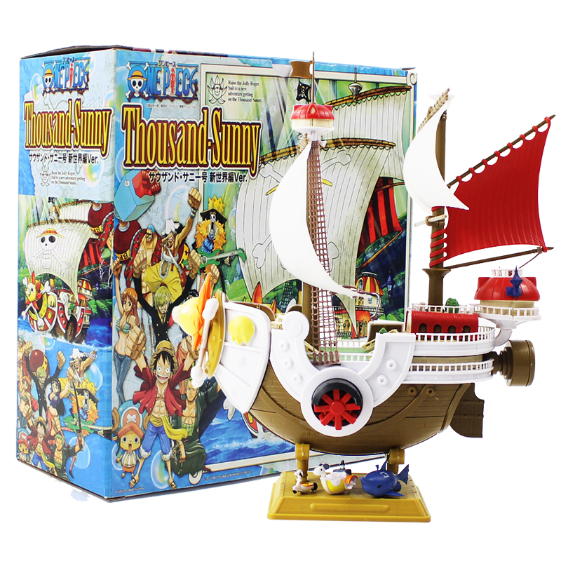1pcs 28cm Anime Thousand Sunny ONEPIECE Pirate Ship Model PVC Action Figure Collectible Toy Gift For Kids roxy halter onepiece j pss0