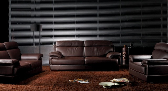 Modern European Design Small Home Top Grain Luxury Italian Leather Sofa Set Manufacturers 3 2 1