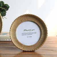 Modern Style Round Photo Frame Home Family Decoration Resin Picture Frame Creative Wedding Birthday Gift Photo Frames Hot Sale