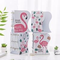 Creative Fashion Telescopic Flamingo Design Bookshelf Large Metal Bookend Desk Holder Stand For Books Organizer Gift