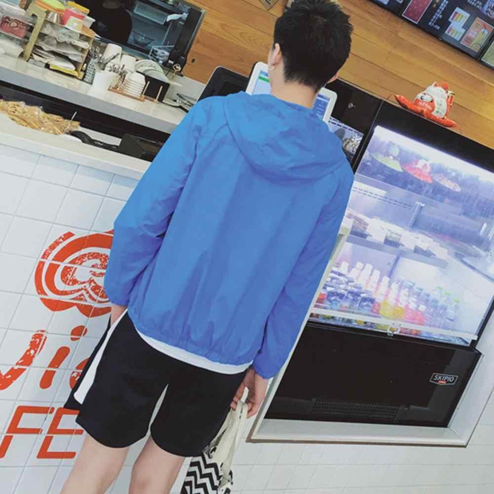 HobbyLane 男性日焼け薄いジャケットとフード防風速乾性屋外コートスポーツ