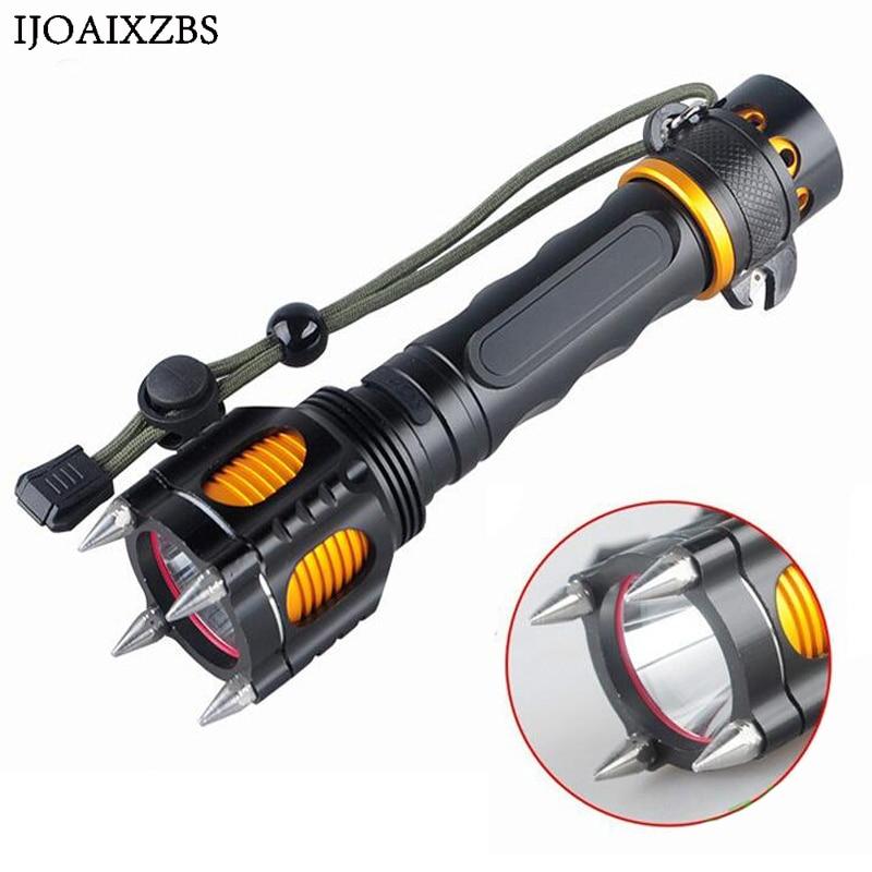 LED Flashlight Rechargeable Powerful Pocket Tactical Flashlight Long Range Lanterna Tatica Camping Cycling Light Torch 18650