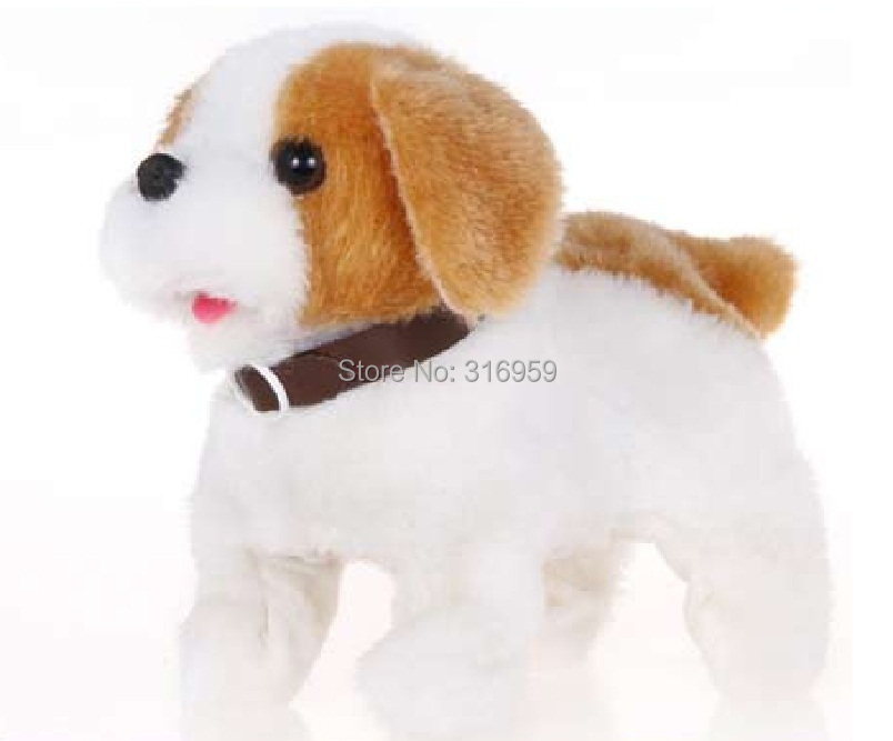 New Pure Cute dog Electric Dog turn a somersault Robot dog Bark Plush Electronic Dog pet electronic toy цена