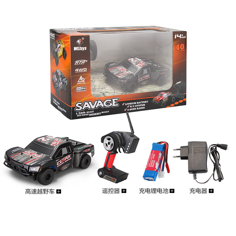 WLtoys A232 Remote Control RC Racing Car 1 24 2 4G Electric Brushed 4WD RTR RC