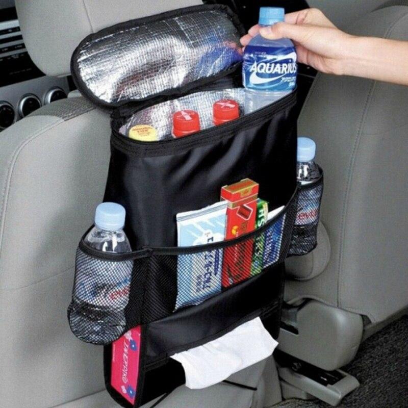Auto Kenderaan SUV Car Seat Kembali Bag Multi-Pockets Organizer Holder Thermal Insulation Bag Sundries Beverage Tissue Storage Box