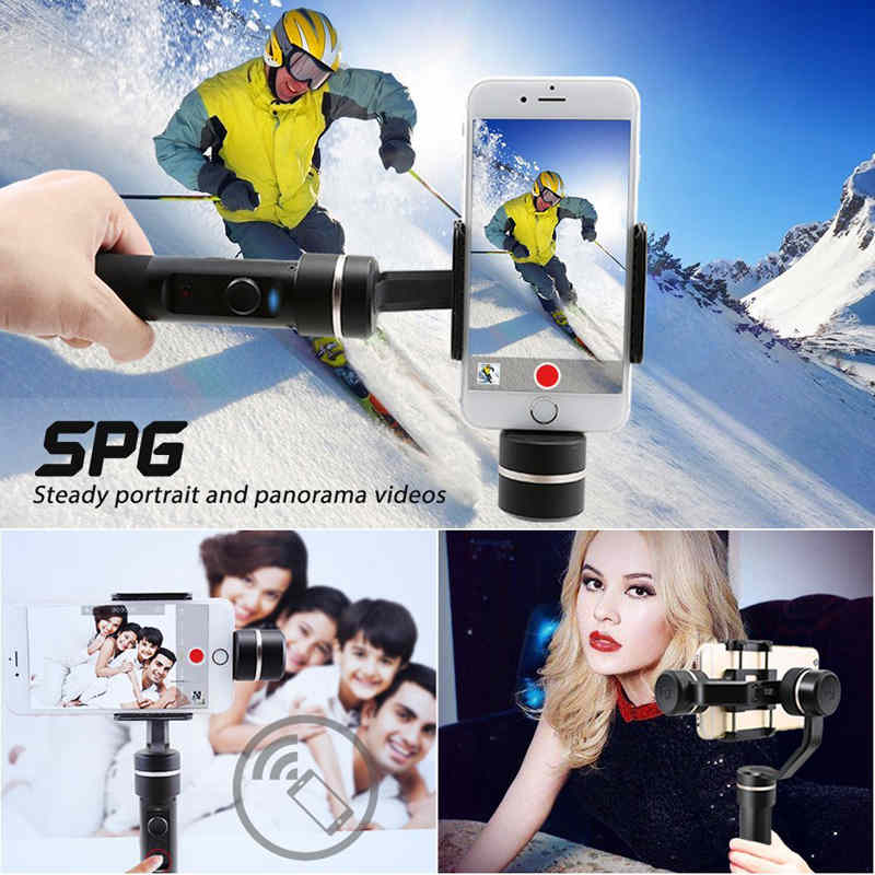 FeiyuTech SPG 3-Axis Stabilized Stabilizer Handheld Gimbal Focus Face Tracking Panorama Time-lapse Vertical Horizontal Shooting yuneec q500 typhoon quadcopter handheld cgo steadygrip gimbal black