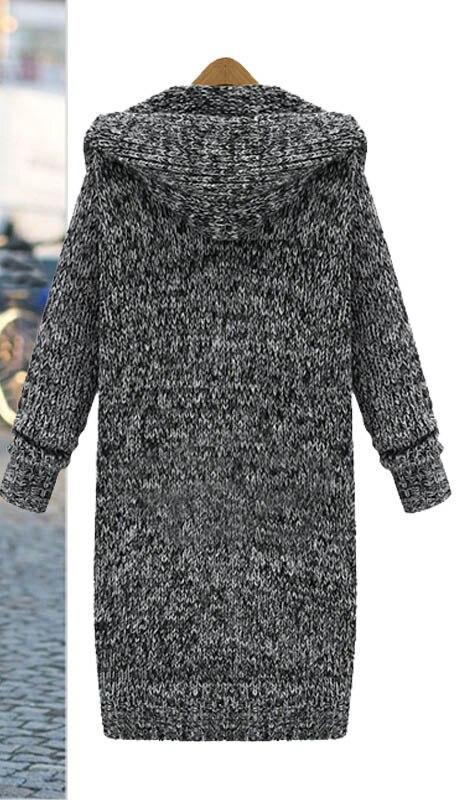 Hiver Tricoté Chandail Pocket Capuche Taille 5xl Cardigans Plus Longues Lâche Cardigan Automne À Ayunsue 2018 La Femmes Manches Lx1957 XuwOPkZiTl