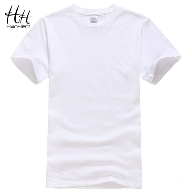 HanHent Cotton Men T-shirts Classical 2017 Short Sleeve O-neck Solid Color Loose Basic Tshirt Casual Fitness Men T shirts TA0001