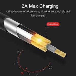 Image 3 - 10 pièces/lot câble Usb pour iPhone 8, USAMS 2A câble de chargeur plus rapide pour iPhone 7 Date câble lumineux usb câble support ios 11 10 9