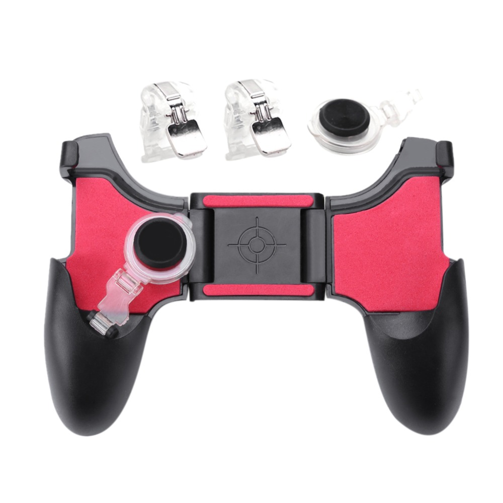 5 in 1 Mobile Phone Gamepad Joystick Controller L1 R1 Fire Shooter Buttons Trigger Handle for PUBG for iPhone Android Game pad image