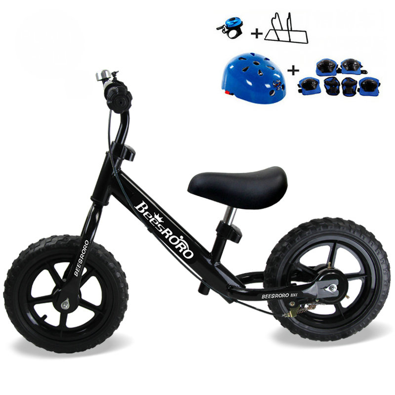 12inch Baby Balance Bike With Hand Brake, High Carbon Steel Frame And EVA Solid Wheel Kids Bike, 85-100cm adjust Balance Bike