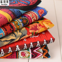 18 Colors 145cm Width Floral African Cotton Linen Vintage Fabric DIY Handmade Textile Sewing Patchwork For