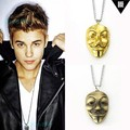 """31""""chain 2015 New V Mask Pendent Necklace Hip Hop Jewelleryfor Lover Man Woman  Justin Bieber Chris Brown Show Accessory N156"""