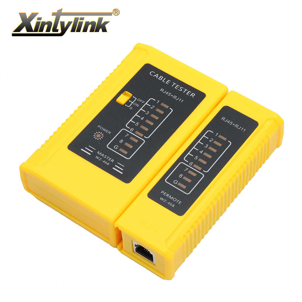 xintylink network rj45 tester tool wire rj11 rj12 8p 6p line telephone  ethernet cable main remote