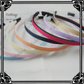 Wholesale 6MM wide plastic head band covered ribbon grosgrain 50pcs/lot with teeth
