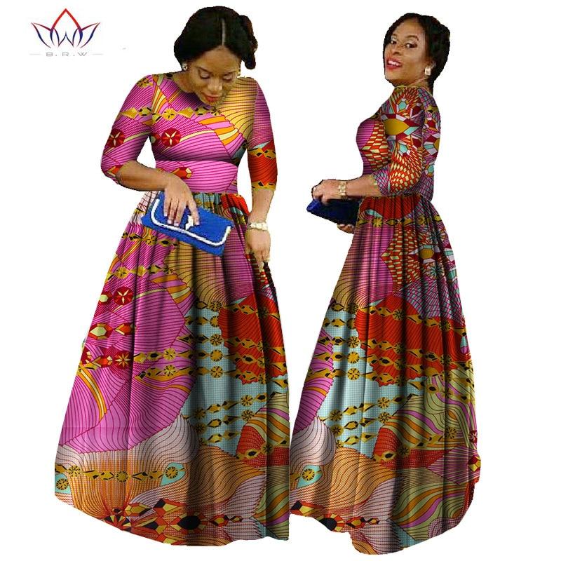 Afrika qadınlar üçün 2019 african bazin paltar african uzun - Qadın geyimi - Fotoqrafiya 1