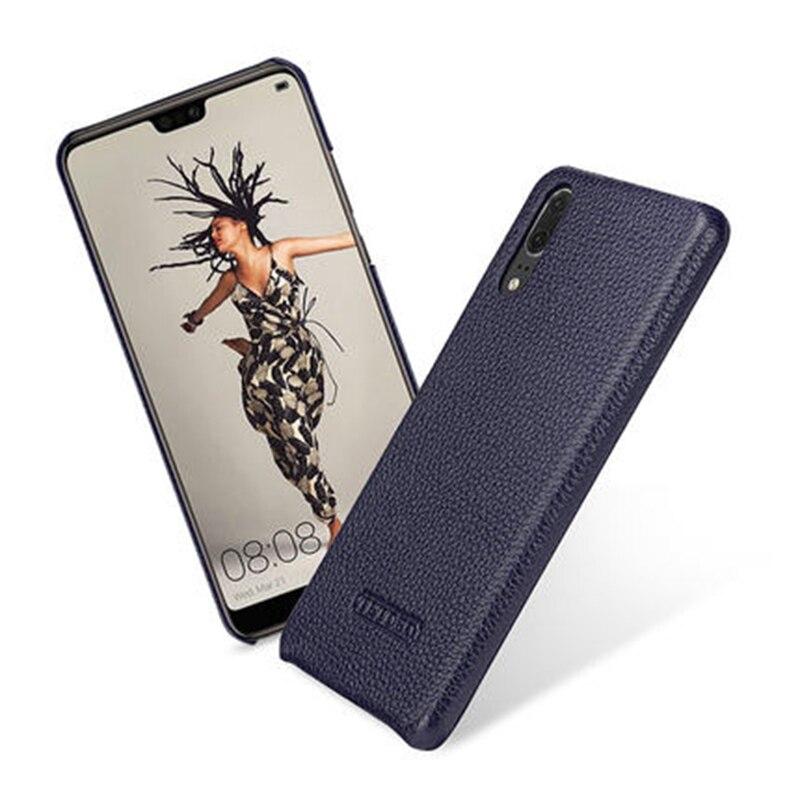 2018 nouveau demi-enveloppé étui pour huawei P20 luxe couverture en cuir véritable mince arrière téléphone étui pour huawei P20 Pro 5.8/6.1 pouces