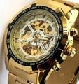 Победитель световой Часы Автоматические Механические Часы мужские Классические Нержавеющей Стали Механические Часы Мода Креста Наручные Часы 2015