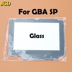 Image 4 - Jcd 1 pcs 플라스틱 유리 렌즈 gba sp 스크린 렌즈 커버 닌텐도 게임 보이 어드밴스 sp 렌즈 수호자 승/adhensive