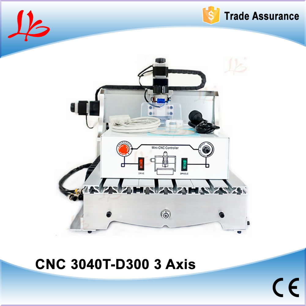 CNC 3040 T-D300 Wood Milling Machine, Mini lathes, hot new products for 2016 cnc 5axis a aixs rotary axis t chuck type for cnc router cnc milling machine best quality