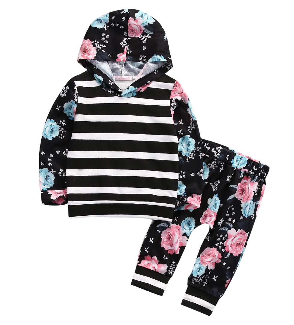 toddler Baby kids girls clothes tracksuit hoodie top+pants outfits