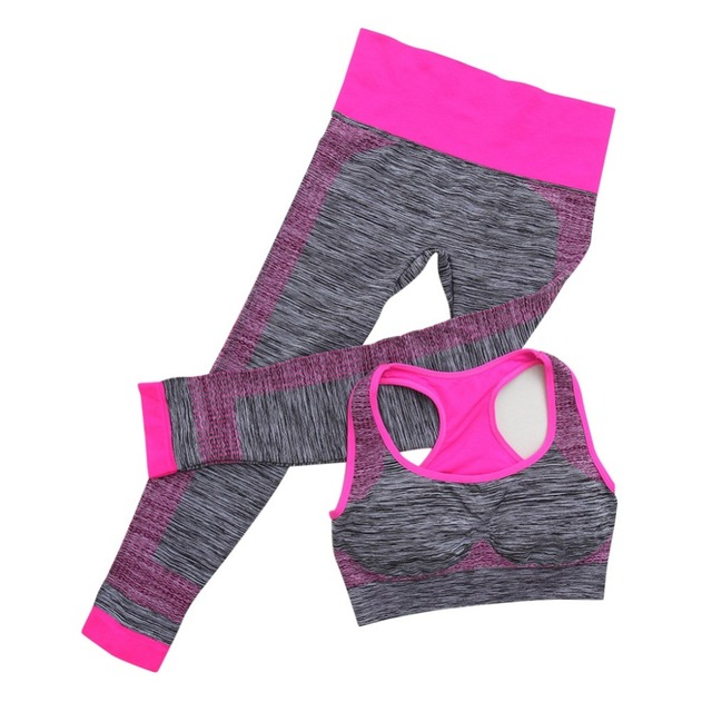 Women Sport Yoga Set Gym Sports Suit Elasticity Fitness Clothes Workout Sports Wearing Sport + Pants Workout Set