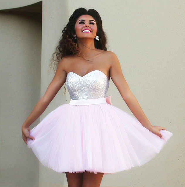 Light Pink Cheap Prom Dresses