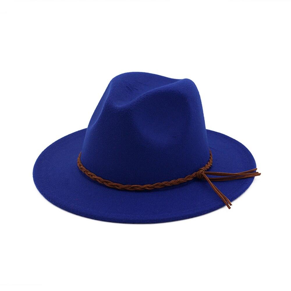 Vintage Geflecht Gurtel Hut Fedora Hute Fur Frauen Herren Hut