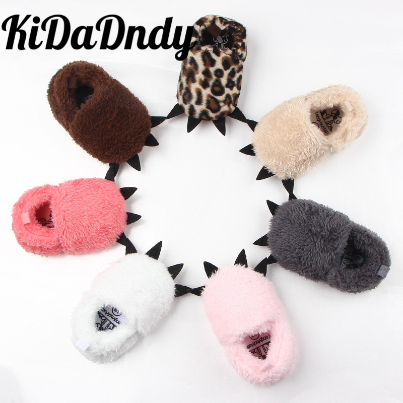 2018 winter new monster claw baby shoes baby step shoes thicker Arctic cashmere warm slippers kids cotton shoes GXJ131 larsen arctic step