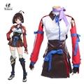 Kabaneri rolecos venda quente do ferro fortaleza kotetsujo não kabaneri mumei trajes cosplay mumei battle dress