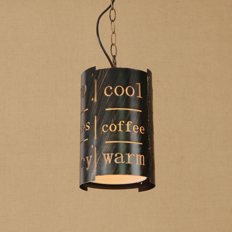 Modern Hollow letter LED/Edison iron pendant lamp bedroom Light Cabinet Living/dining room E27 lamp Pendant Light Fixture 220V a1 master bedroom living room lamp crystal pendant lights dining room lamp european style dual use fashion pendant lamps