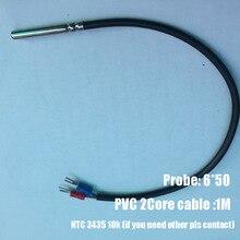 무료 배송 50pc NTC 서미스터 10k B3435 ntc 프로브 6*50MM 10k 센서 1% 1M ntc 10k 3435 ntc 방수 센서